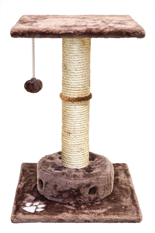Amazon.com : FurHaven Pet Cat Furniture | Tiger Tough Cat Playground Scratching Post Furniture, Brown : Pet Supplies
