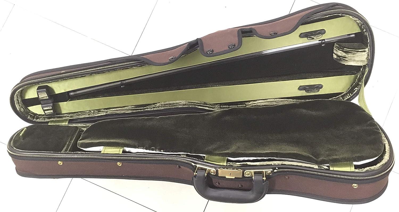 GEWA ヴァイオリンケース Jaeger イェーガー 最高級グレード シェイプ 外装色ブラウン   B07QZ43BWB