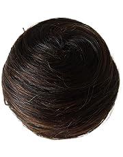 PRETTYSHOP 100% cabello humano pedazo de cabello Cola de caballo Updos de Scrunchie div. Colores