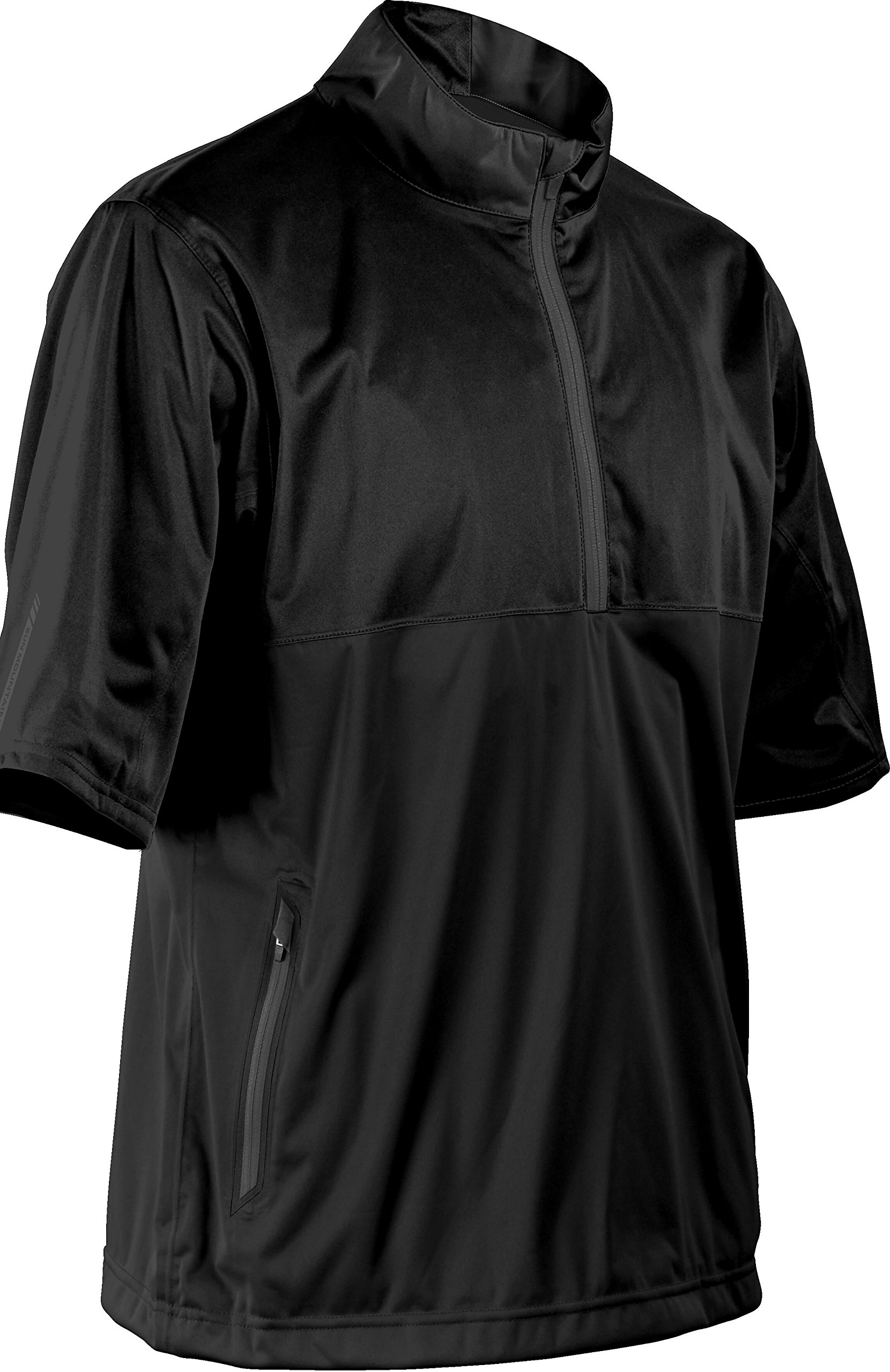Sun Mountain Mens Rainflex Short Sleeve 1/2 Zip Pullover Black/Black L