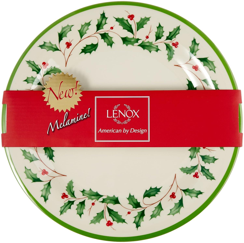 Amazon Com Lenox Holiday Melamine Dinner Plates Set Of 4 Ivory  sc 1 st  Dining Table Set & Surprising Lenox Melamine Christmas Plates Gallery - Best Image ...