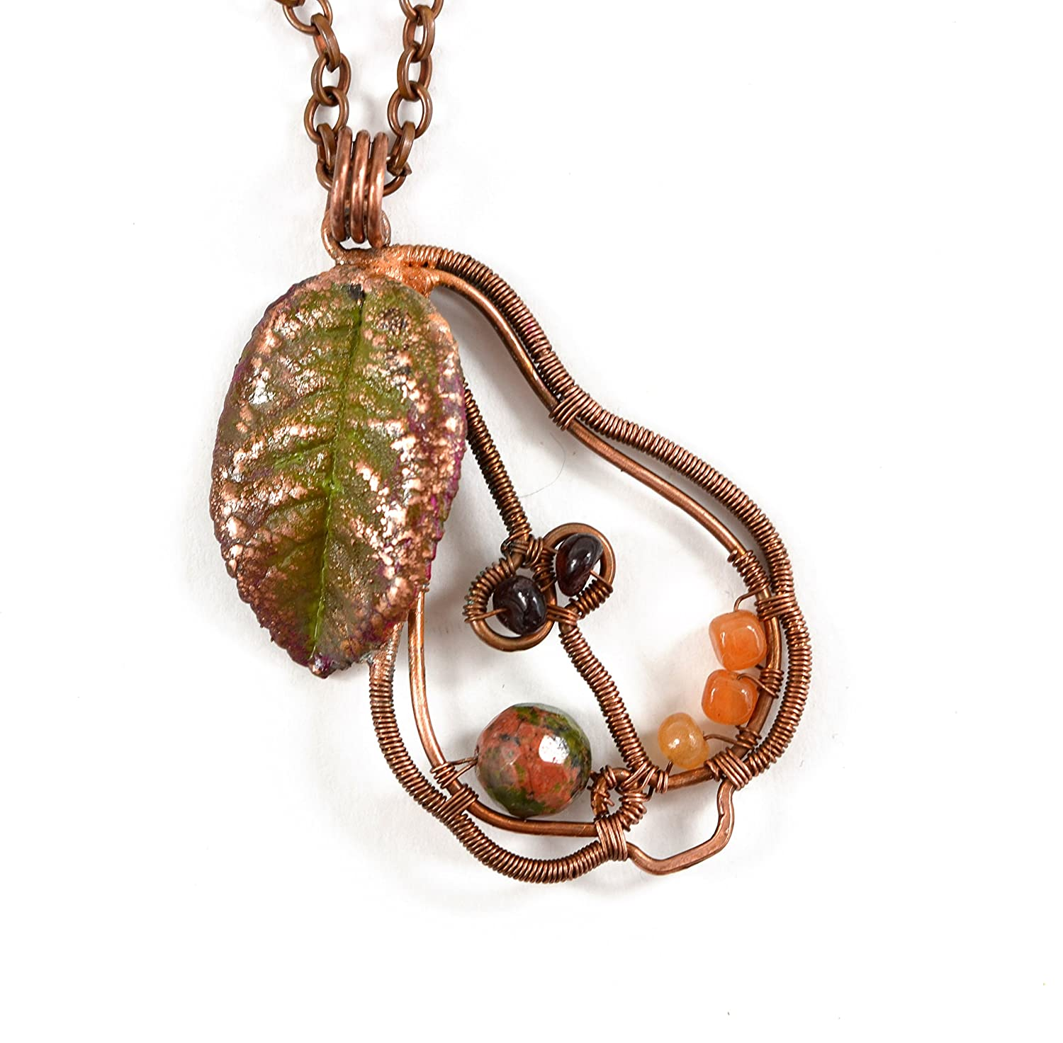 Amazon Com Amasing Handmade Copper Wire Wrapped Pear Pendant