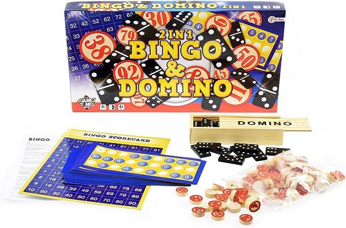 Toi-Toys – 2 in 1 Domino Juego Bingo, 51252 a, Multicolor: Amazon.es: Juguetes y juegos