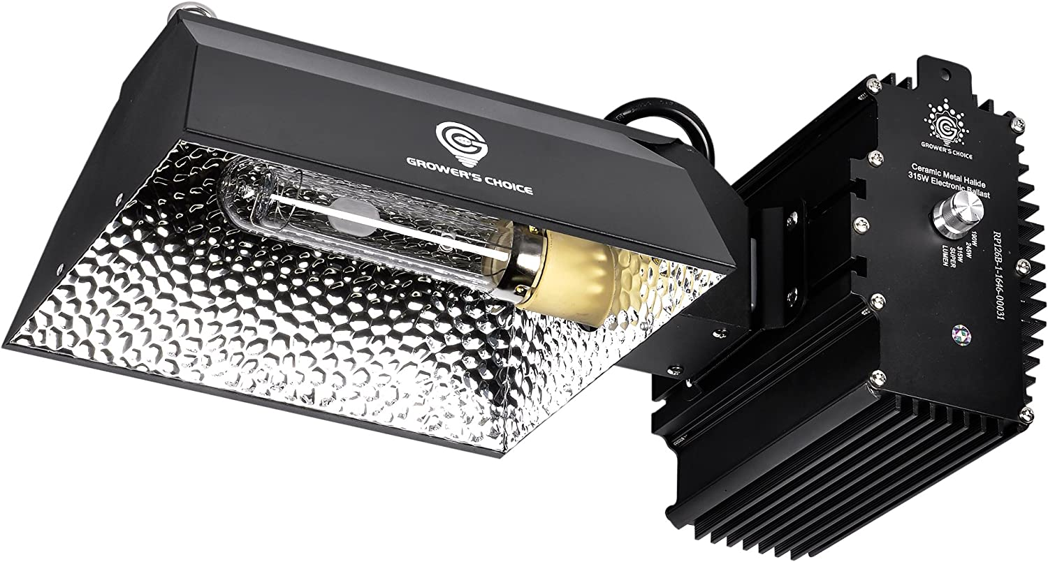 Grower/'s Choice 315W Ceramic Metal Halide Light Complete Fixture with 4K