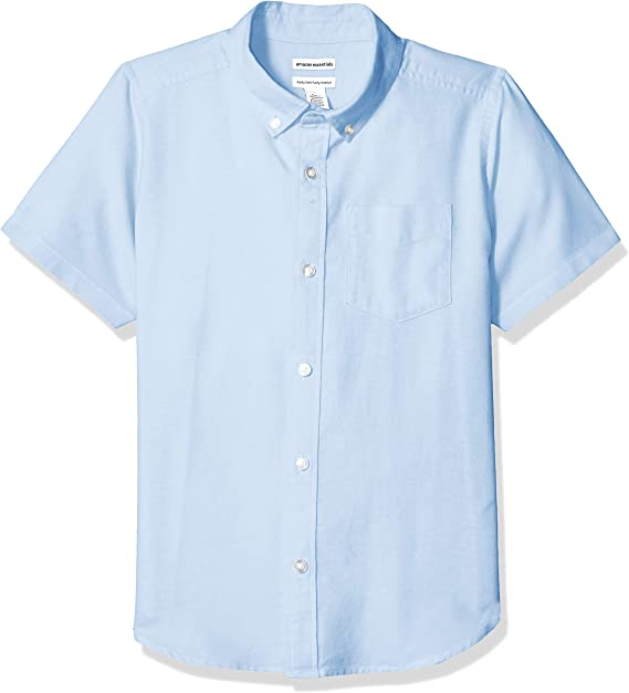 Amazon Essentials – Camisa Oxford de manga corta para niño: Amazon ...