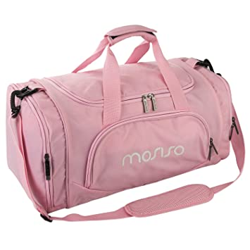 43061379fd Image Unavailable. Image not available for. Colour  Mosiso Canvas Fabric  Foldable Travel Luggage Multifunctional Duffels Lightweight Shoulder ...