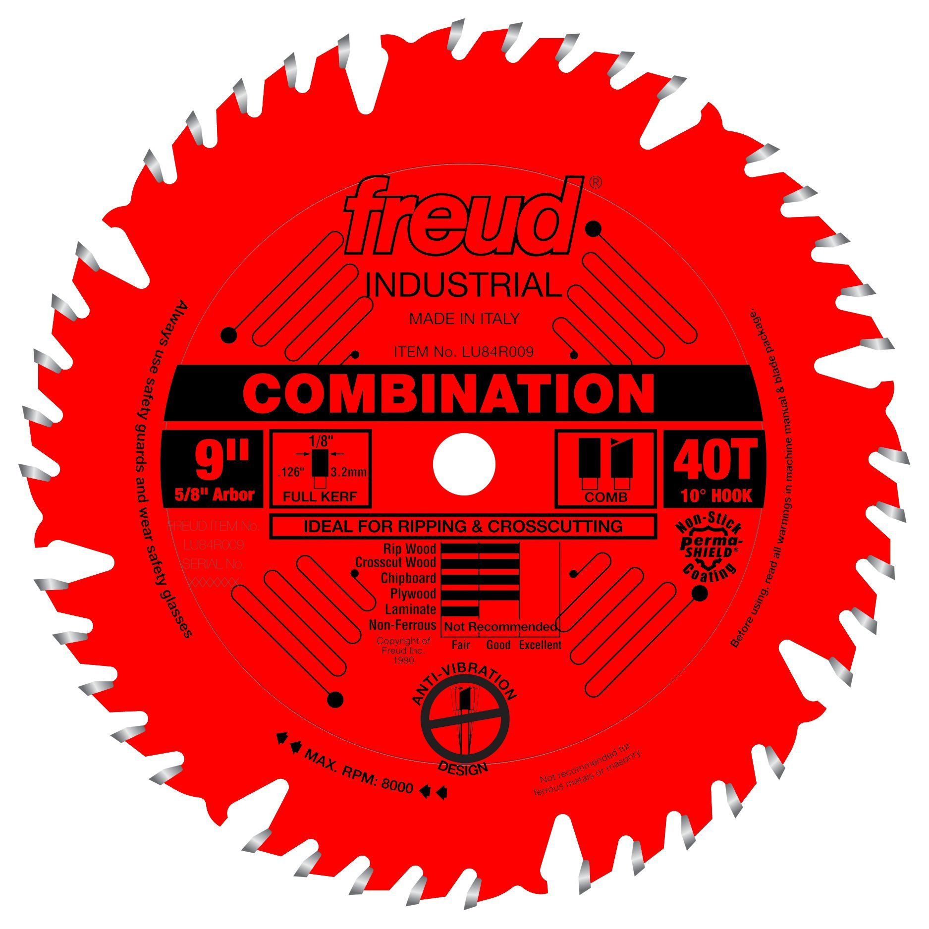 Disco Sierra FREUD Combinación 9 x 40T (LU84R009)