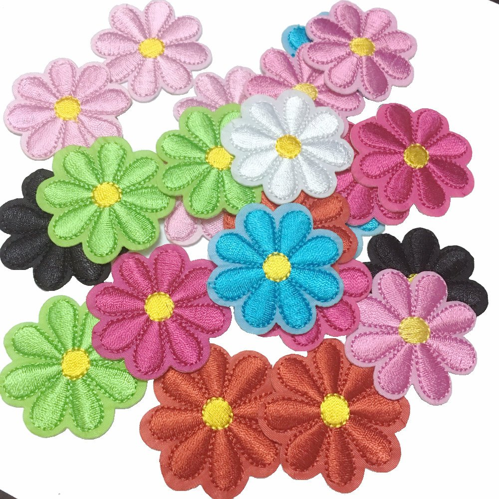 (20pcs Mixed A) - 20pcs/set Sunflower Embroidery Flower Patches Clothing Clothes Shoes Dedicated Embroidery Ironing Appliques (Diameter 4.2cm/1.6inch)  20pcs Mixed A B074H1HBX4