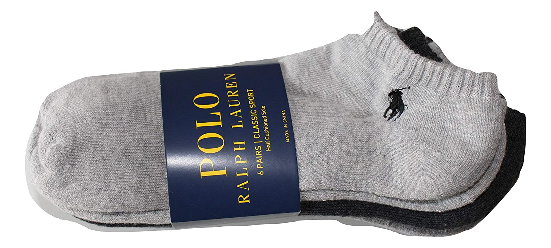 Polo Ralph Lauren Mens NO Show Socks (Size 6-12): Amazon.es ...