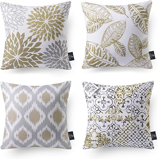 Phantoscope Set of 7 New Living Series Coffee Color Decorative Throw Pillow  Case Cushion Cover 7 x 7 inches 75 x 75 cm
