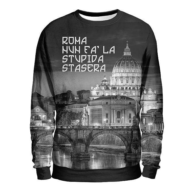 RSC Roma Summae Civitas - Felpa Uomo - Roma Nun Fa La Stupida Stasera 7c15b5979cc