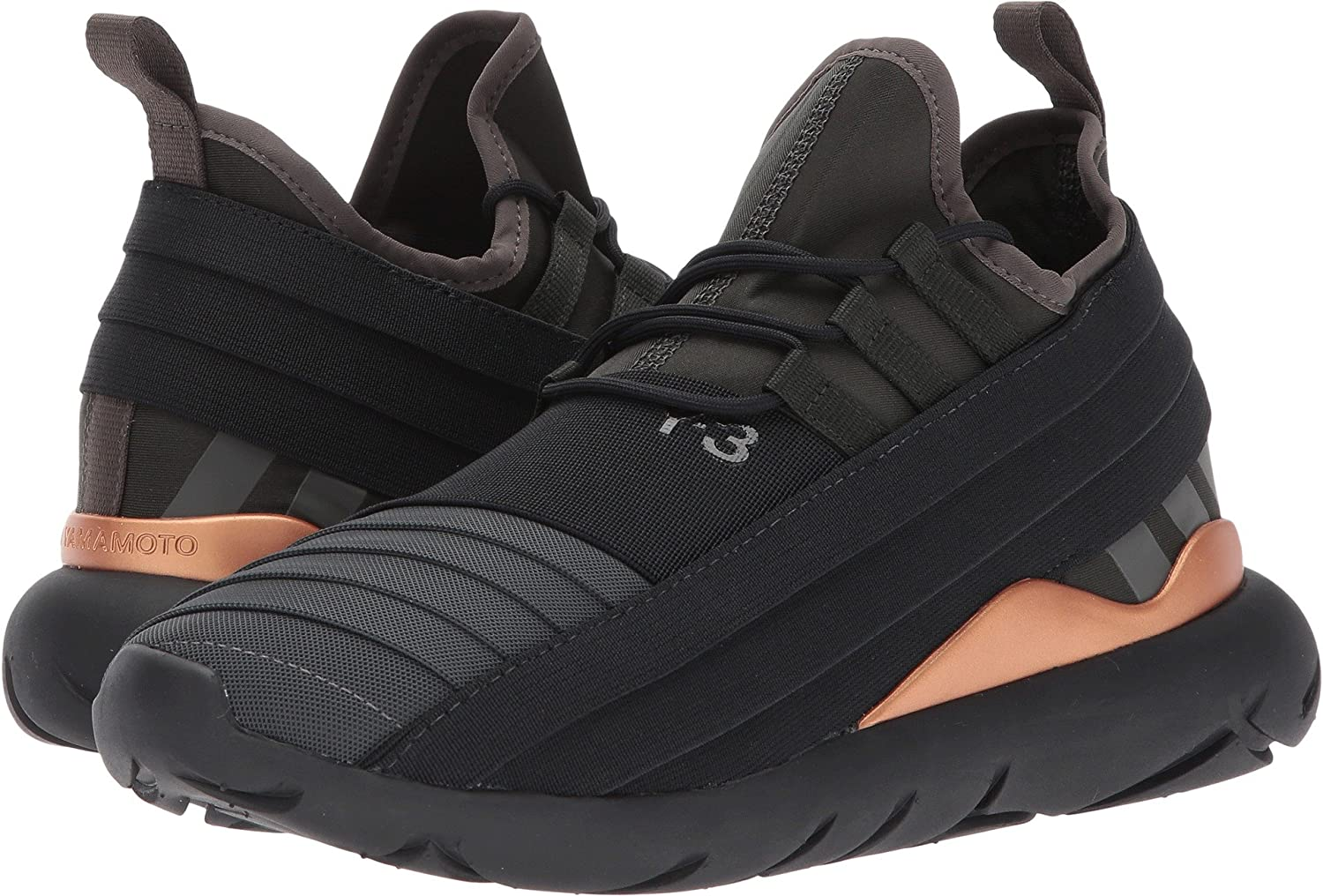 super popular f7bed dbf21 adidas Y-3 by Yohji Yamamoto Women s Qasa Elle Lace 2.0 Black Olive-Y3 Black  Olive Y-3 Core Black Oxford  Amazon.co.uk  Shoes   Bags