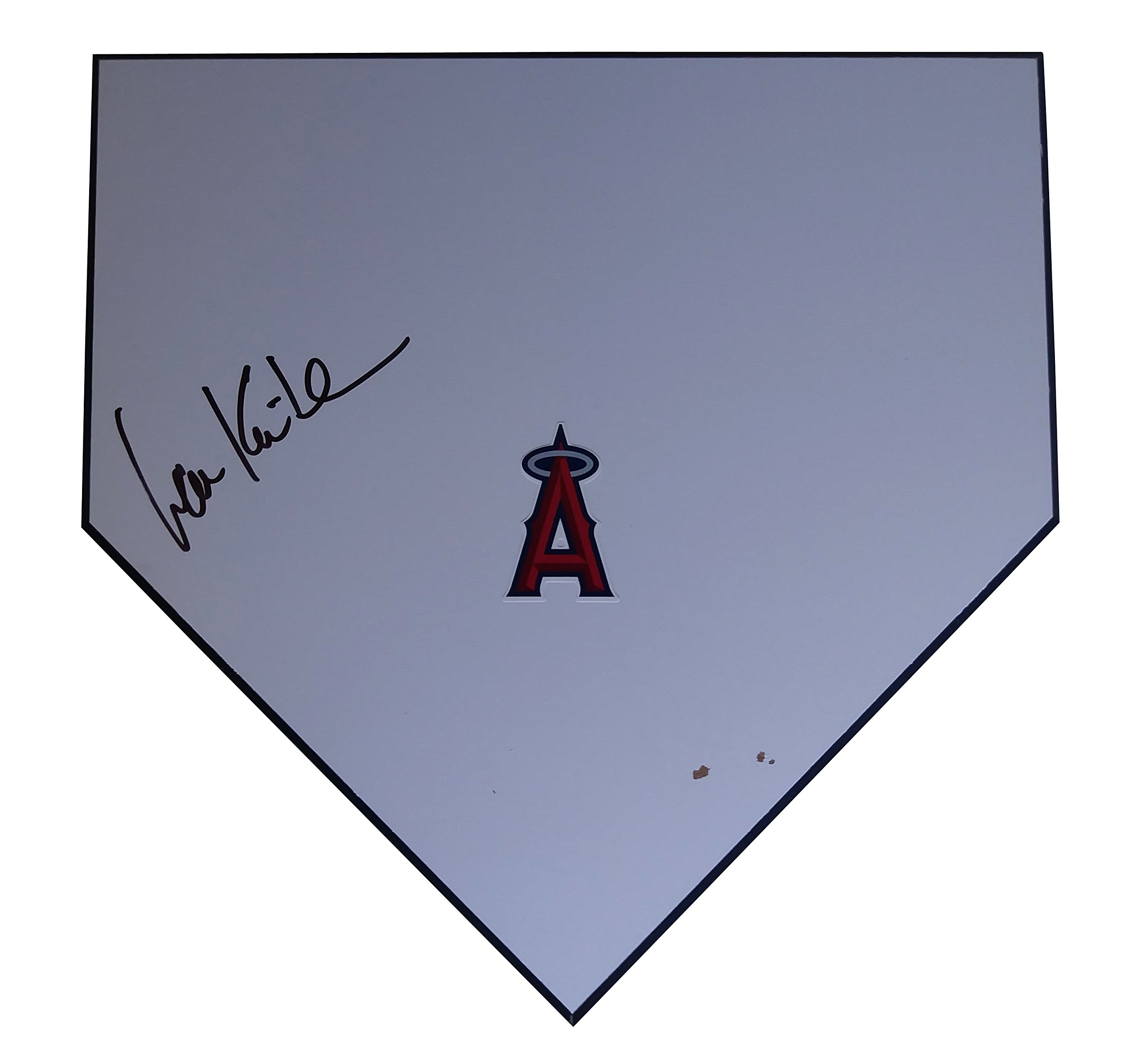 Los Angeles Angels Ian Kinsler Autographed Hand Signed LA Angels Baseball Home Plate Base with Proof Photo of Signing and COA