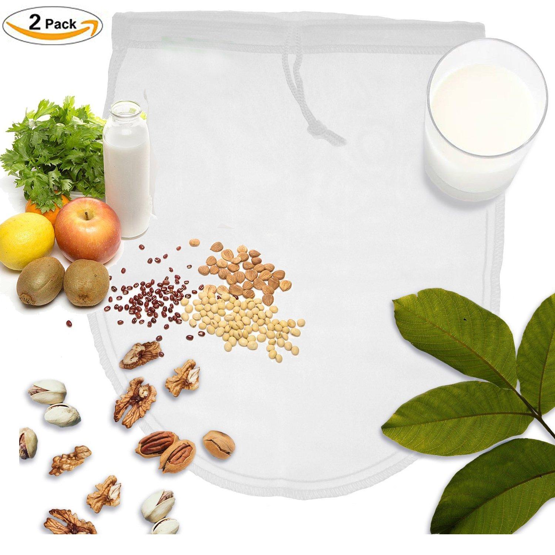 OldPAPA Nut Milk Bag, Bolsa para Hacer Leches Vegetales, iNeibo, Bolsa para Hacer Queso, zumos Vegetales, arroz, Semillas.etc, Multiusos, 100% Natural, ...