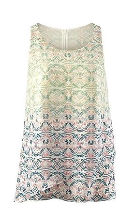 ce2adc6ebf7116 CAbi Mosaic Print Sleeveless Blouse Top at Amazon Women's Clothing ...