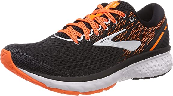 Brooks Ghost 11, Zapatillas de Running para Hombre, Multicolor (Black/Silver/Orange 093), 44.5 EU: Amazon.es: Zapatos y complementos