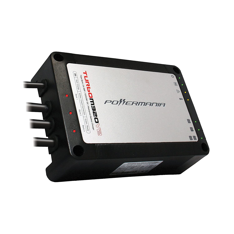 Powermania Turbo M230V2 waterproof battery charger (Dual Bank, 30A)