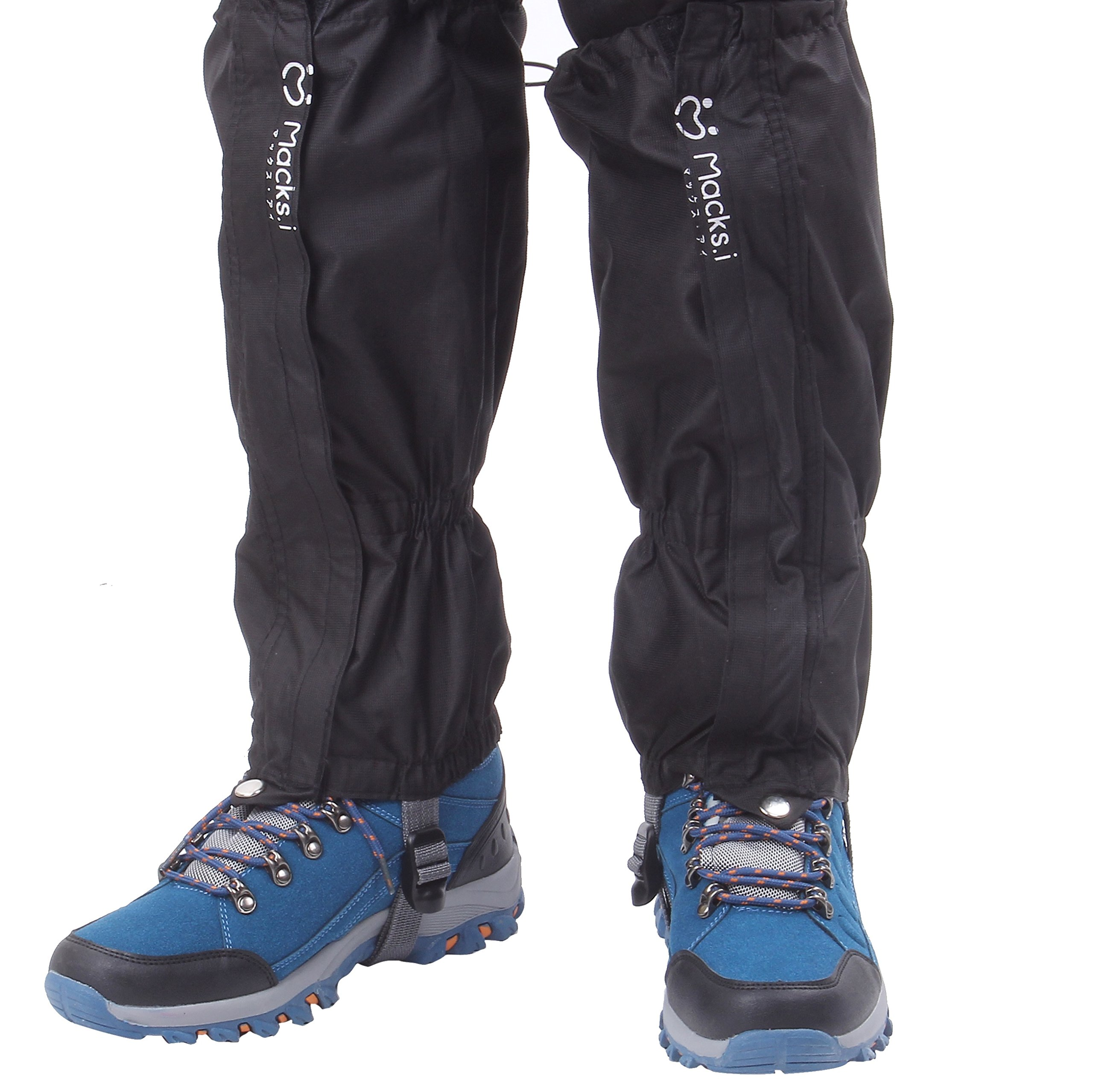 Macks.i Outdoor Unisex Waterproof Camping Hiking Gaiters High Leg Cover 1pair with a Free Shoe Bag by Macks.i