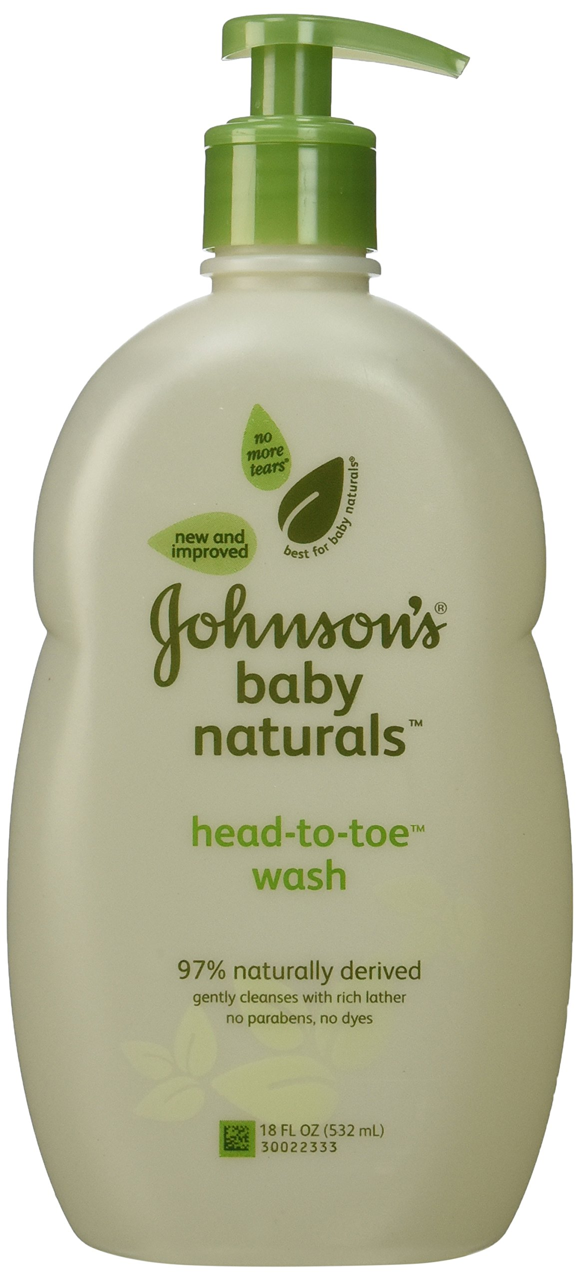 Johnson's Natural Head-to-Toe Baby Wash, 18 Ounce (Pack of 2) by Johnson's Baby (Image #1)