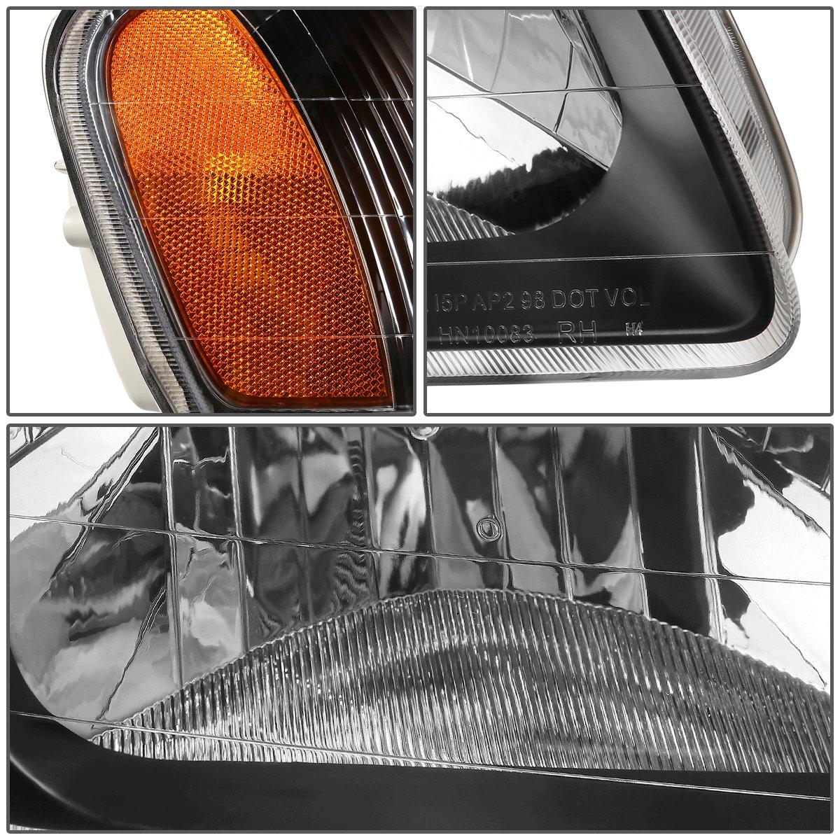 Driver and Passenger Side DNA MOTORING HL-OH-049-BK-AM Headlight Assembly