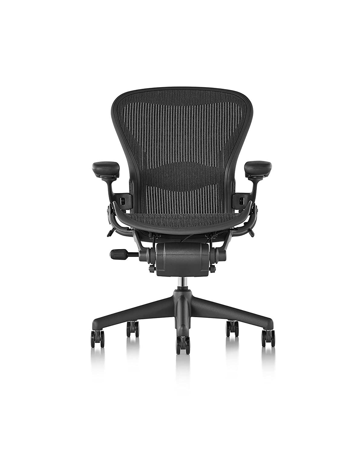 Amazon.com: Herman Miller Classic Aeron Chair   Fully Adjustable, B Size,  Adjustable Lumbar, Carpet Casters: Kitchen U0026 Dining