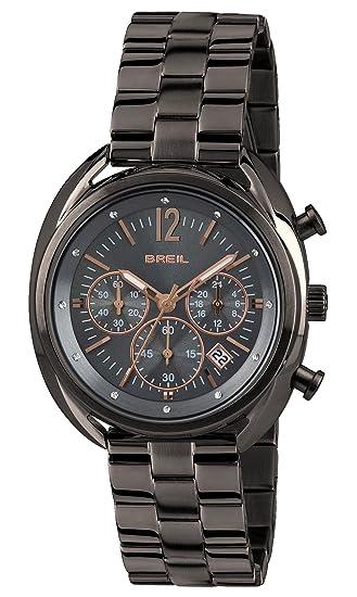 Breil Reloj Cronógrafo para Mujer de Cuarzo con Correa en Acero Inoxidable TW1678: Amazon.es: Relojes