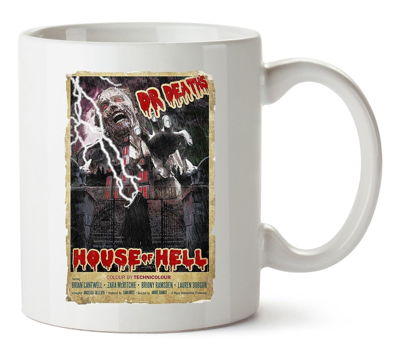 HippoWarehouse Dr casa de la muerte de infierno impreso taza de cerámica 10 oz, blanco, One Size (10oz): Amazon.es: Hogar