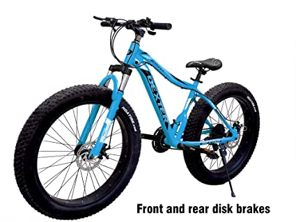 74ca48471aa Dexter Front Suspension 21-Speed Mountain Bike for Men's and Women's Bike  with Lightweight 18 Inch Carbon Steel Frame 26x4 inch Tires Bicycle