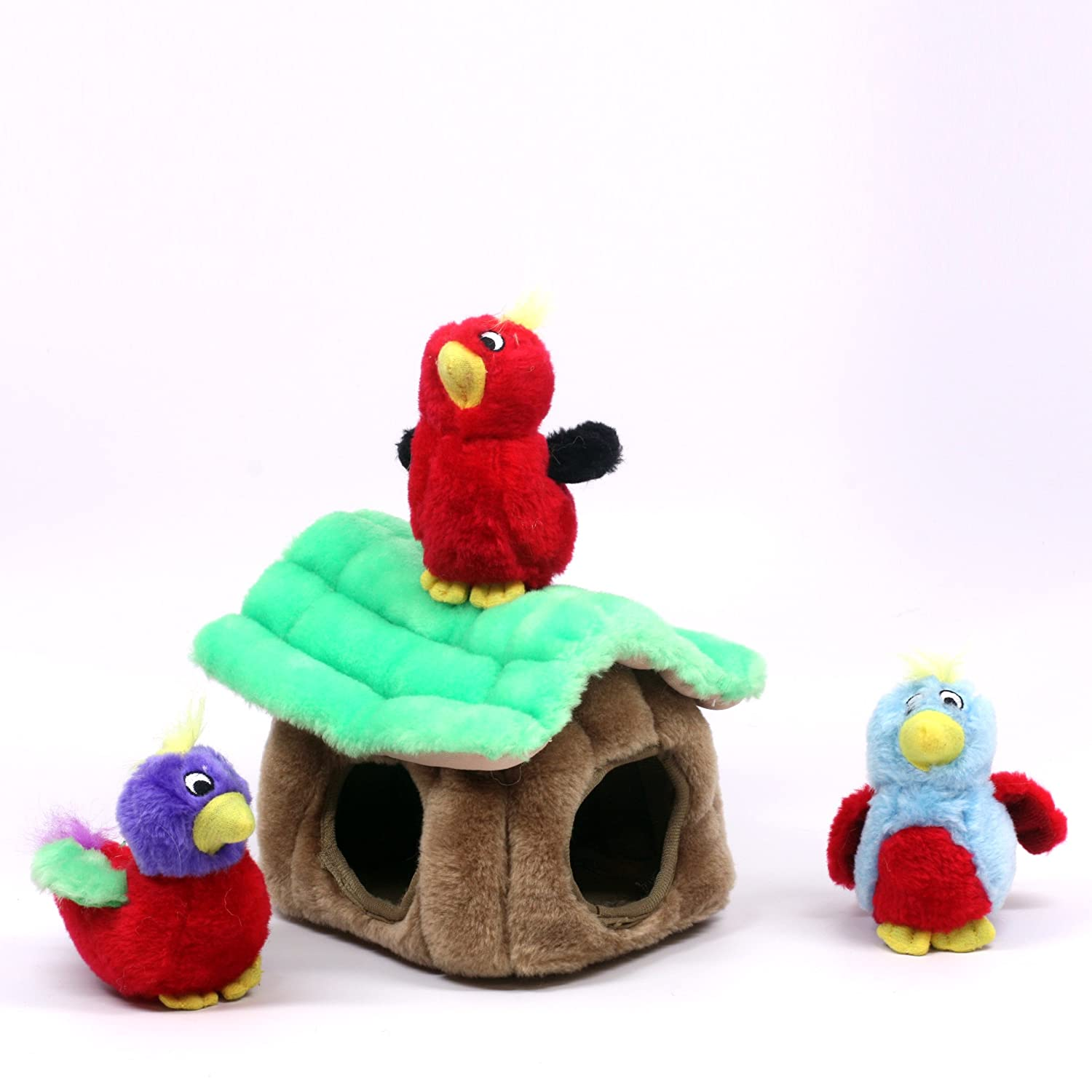 Pet Supplies Pet Squeak Toys Hide a Bird Fun Hide and Seek