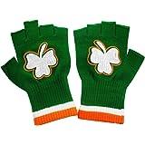 St. Patrick's Day Fingerless Shamrock Gloves (Pair)