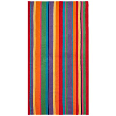 Cotton Craft - Oversized Woven Velour Beach Towel - Huge 58x68-inch Size - 100% Cotton - Plush Beach Blanket - Swim Towel - Summer of Siam