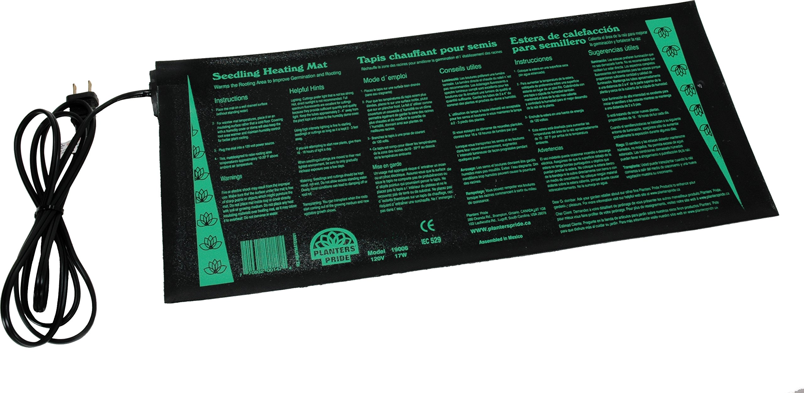Planters' Pride RZ.HEAT4 Heat Mat for Propogation and Cloning, 20 x 48-Inch