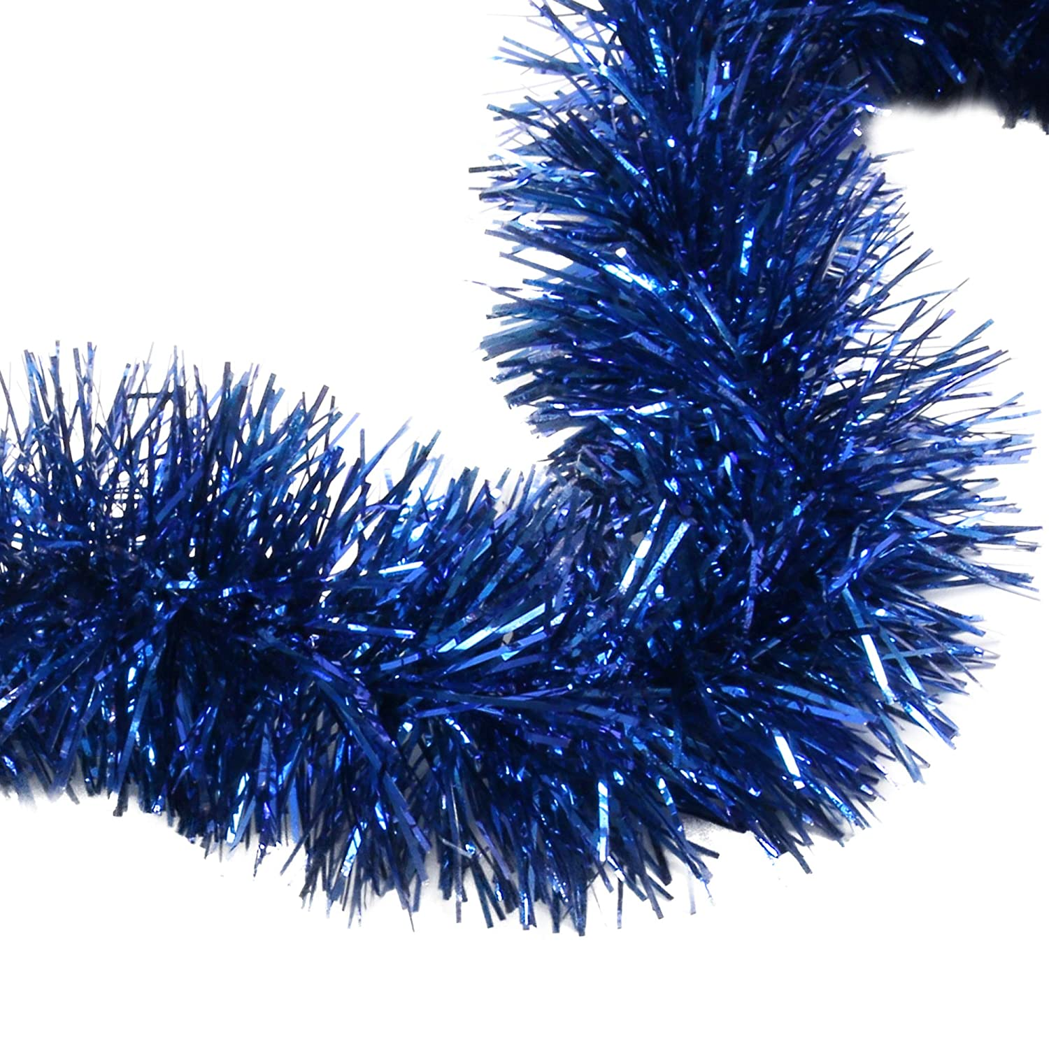 Royal Blue Tinsel Garland Celebrate a Holiday Christmas New Years Eve Party Indoor and Outdoor Decorations