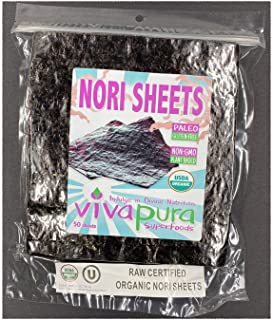 product image for Nori Sheets, 50 Per Pack, Raw, Organic