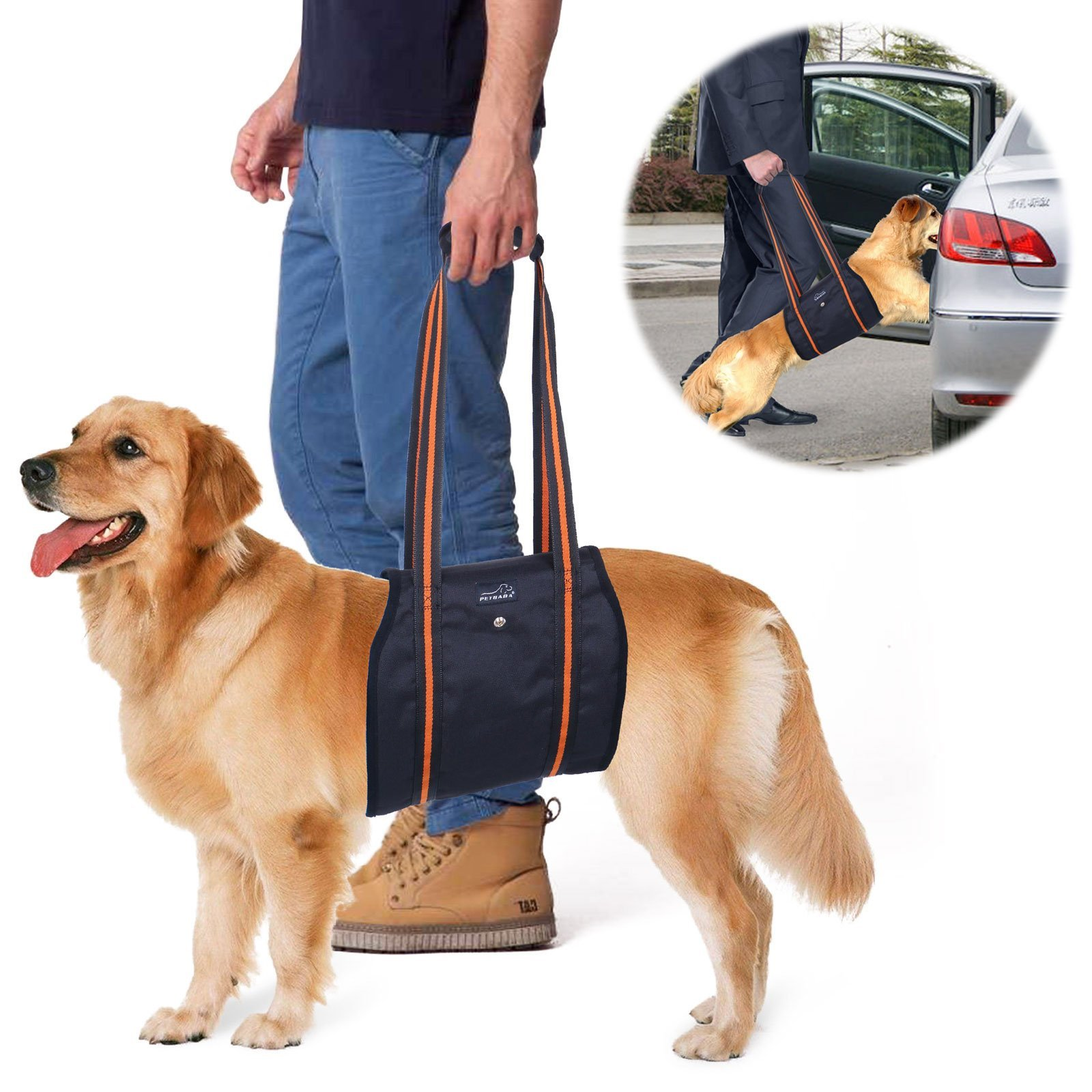 Dog Lift Harness PETBABA Mobility Rehabilitation Sling Support Harness with H