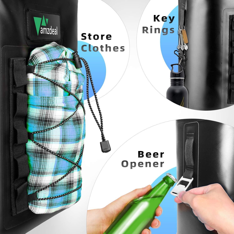 Pescar Mochila Refrigeradora T/érmica y Impermeable amzdeal Mochila Nevera 12L Bolsa Anti-Fugas para Almuerzo y Senderismo para Hombres y Mujeres Picnic Playa M/últifuncional para Viaje