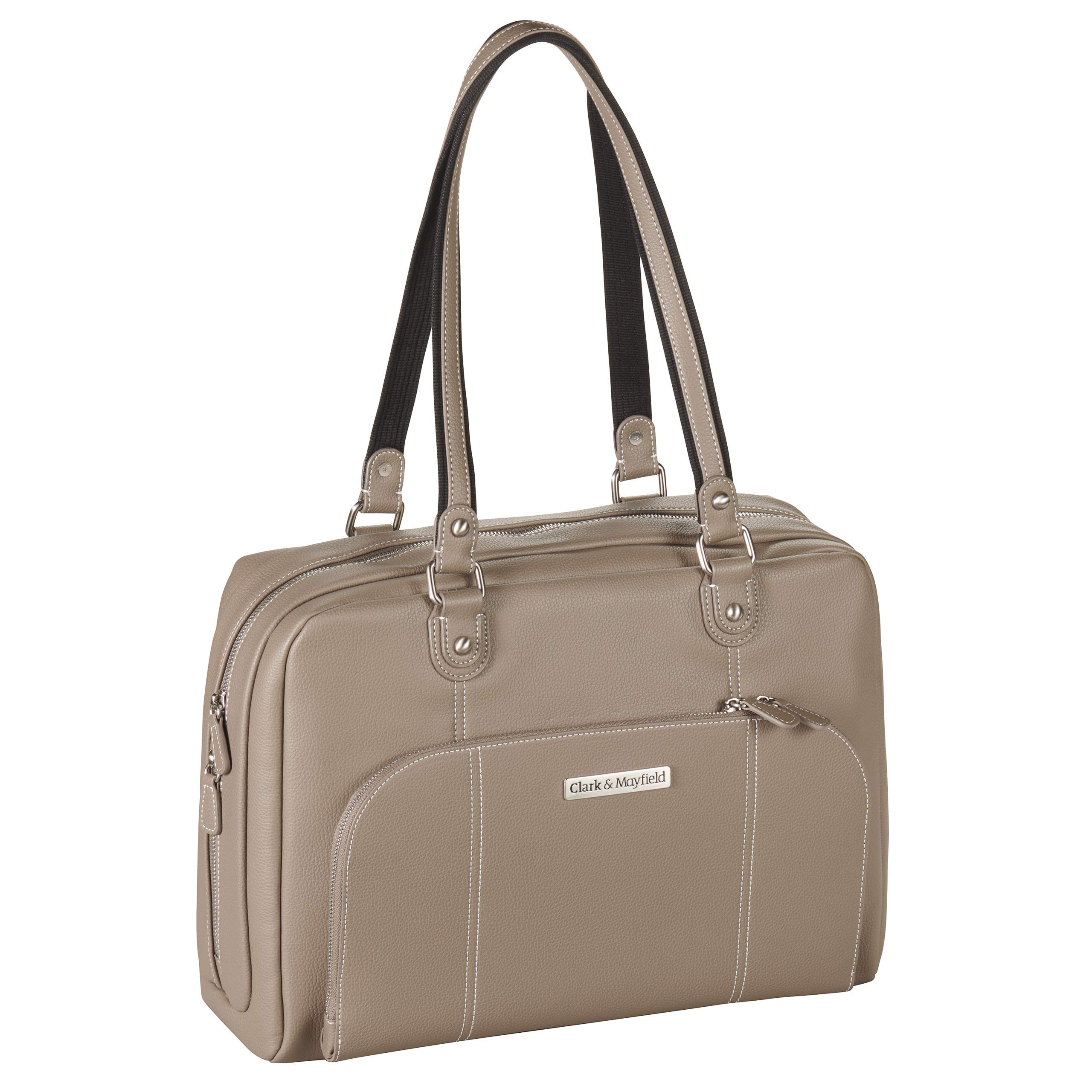 Clark & Mayfield Morrison 15'' Laptop Tote (Taupe) by Clark & Mayfield (Image #1)