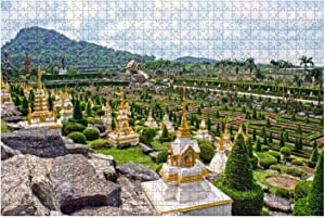 """Jigsaw Puzzles Nong Nooch Tropical Botanical Garden Pattaya Thailand for Kids Adults Educational Intellectual Game Gift Large Puzzle Toys DIY Challenge Indoor - 20""""x30""""(1000 Pieces)"""
