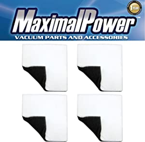 MaximalPower (4-Pack) Replacement Filter for UltraCare CF-1 Kenmore Canister Vacuum Motor Dual-Side (Black & White) Foam Filter for Kenmore Vacuum