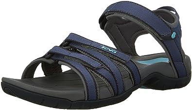 Teva Tirra Leather Schwarz-Grau, Damen Sandale, Größe EU 39 - Farbe Black Damen Sandale, Black, Größe 39 - Schwarz-Grau