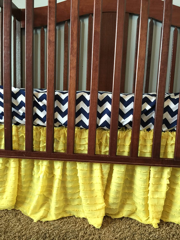 Blush Pink Crib Skirt for Baby Girl Nursery Bedding Dust Ruffle