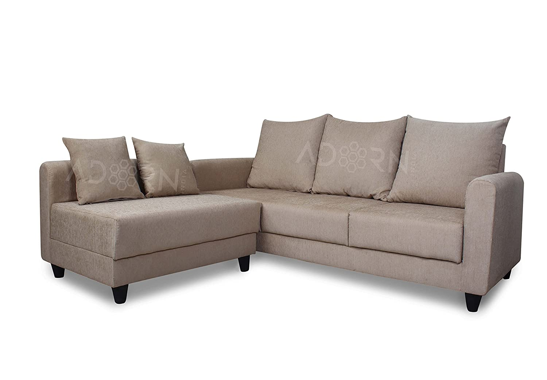 Adorn India Straight Line 2 x 3 Sal Modular Sofa (Beige)