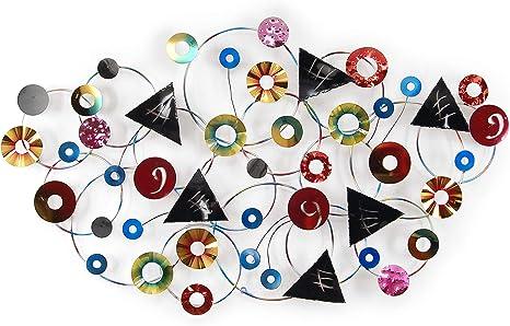 ADM Composition de Figures g/éom/étriques Sculpture enti/èrement m/étallique r/éalis/ée /à la Main Selon des Techniques Artisanales MS008A