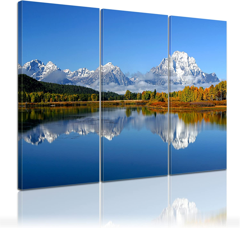 Bilderdepot24 Bastidor Imagen - Cuadros en Lienzo Lago de montaña ...