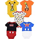 Disney Baby Unisex 5 Pack Bodysuits - Mickey...