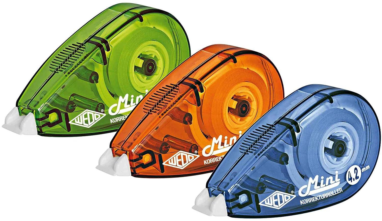 farbig sortiert VE=3 WEDO Korrekturroller Mini 4,2 mm x 6 m