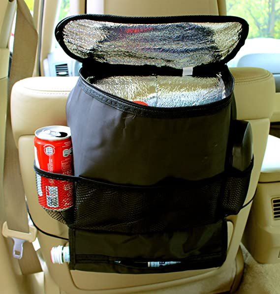 ... nevera bw183 - Respaldo auto Bolsa Utensilios Bolsa para asiento trasero con estante para Auto asiento red Cintas Funda & Portavasos Incluye sujeción ...