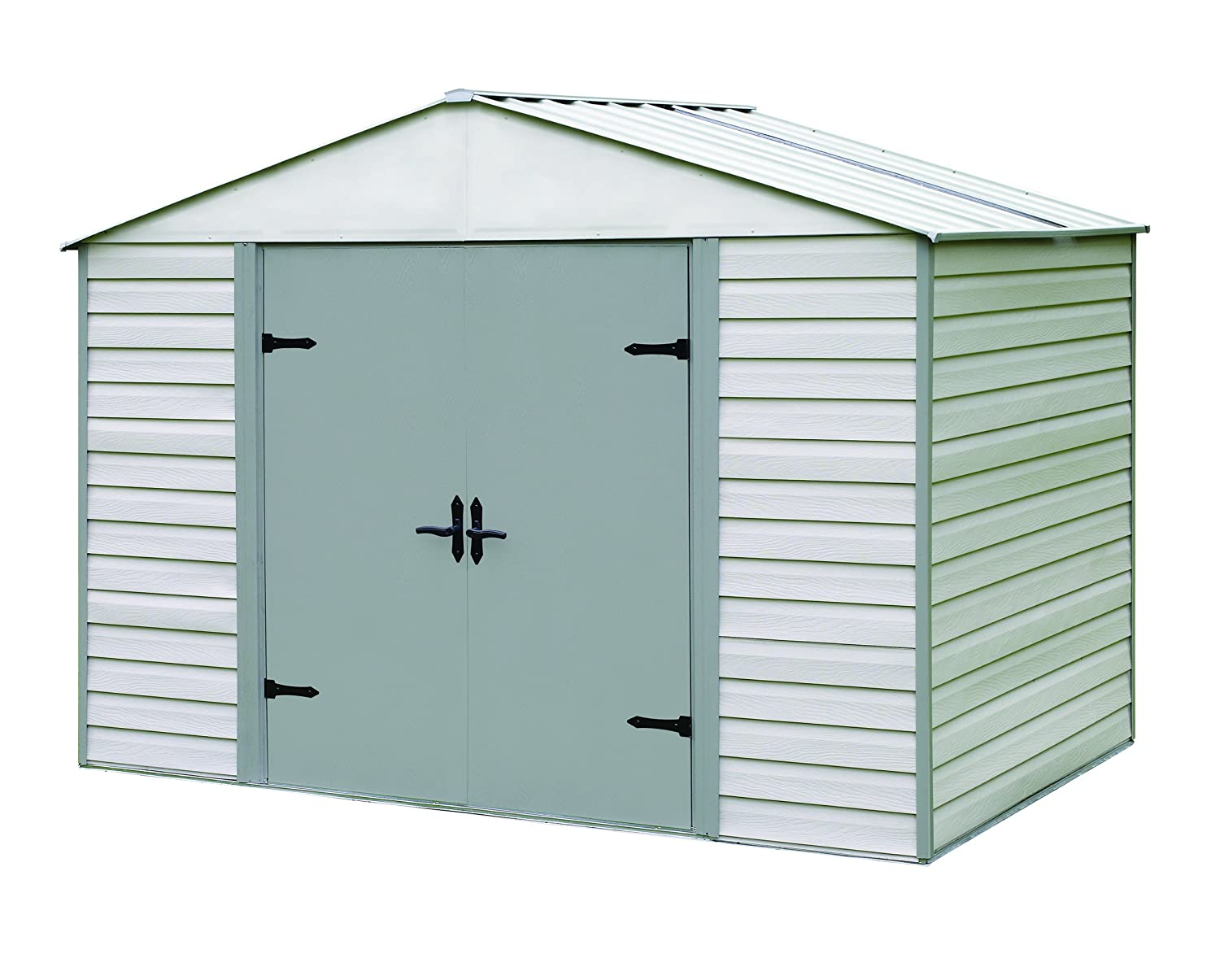 amazoncom arrow shed viking vinyl coated steel shed 10 x 7 patio lawn garden