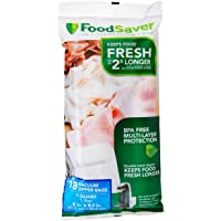 FoodSaver 18 Quart-Sized Vacuum Zipper Bags with Unique Multi Layer Construction