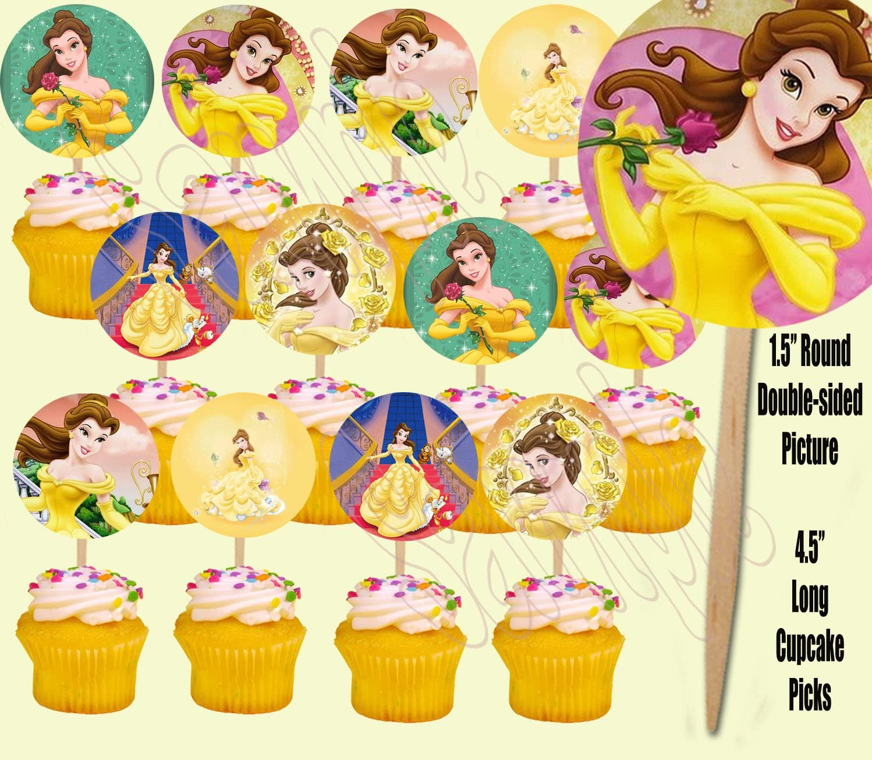 Amazon.com: Belle la bella y la bestia Cupcake púas de doble ...
